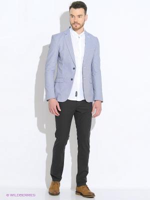 Пиджак Oodji. Цвет: светло-серый, белый, темно-серый