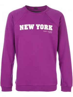 Толстовка New York Marc Jacobs. Цвет: розовый и фиолетовый
