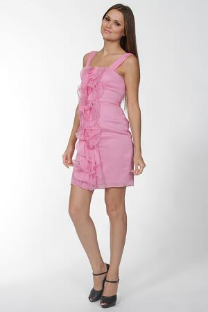 Платье Olinvnas. Цвет: розовый