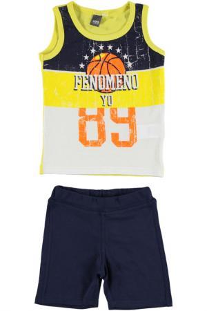 Комплект: футболка, шорты IDO. Цвет: желтый