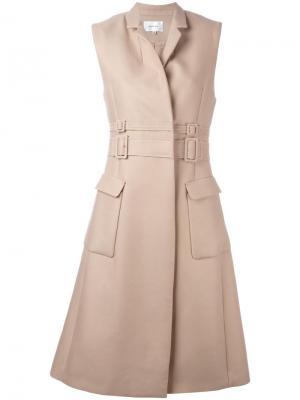 Платье в стиле тренчкота Carven. Цвет: телесный