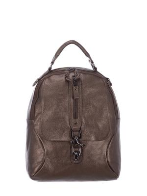 Рюкзак S16062 натуральная кожа Sara. Цвет: бронзовый