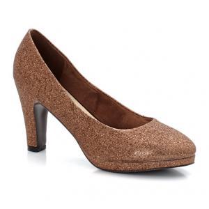 Туфли на каблуке с блестками TAILLISSIME. Цвет: черный металлизированный
