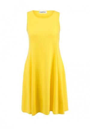 Платье Amplebox. Цвет: желтый