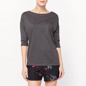 Пижама с шортами рукавами 3/4 La Redoute Collections. Цвет: цветочный рисунок