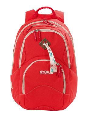 Рюкзак 4YOU FLOW КОРАЛЛ. Цвет: красный
