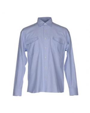 Pубашка CAMO. Цвет: небесно-голубой