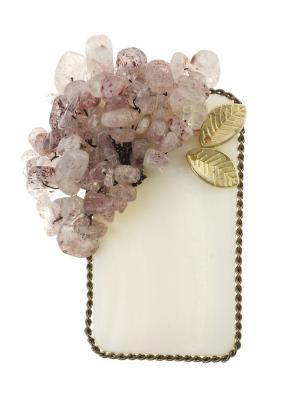 Брошь Bijoux Land. Цвет: белый, розовый