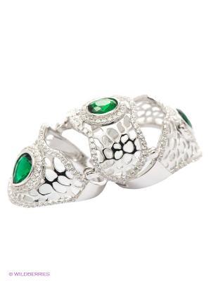 Кольцо Art Silver. Цвет: серебристый, зеленый