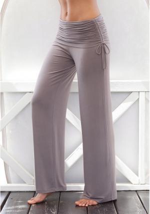 Пляжные брюки Lascana. Цвет: белый, серо-коричневый