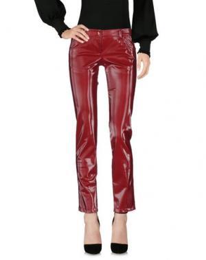 Повседневные брюки MARIAGRAZIA PANIZZI. Цвет: красно-коричневый