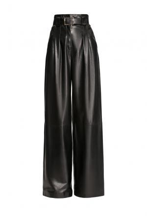 Кожаные брюки с ремнем 156655 Jitrois. Цвет: черный