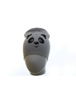 Шапка панда TRANGO. Цвет: серый