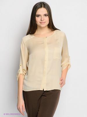 Блузка INCITY. Цвет: бежевый