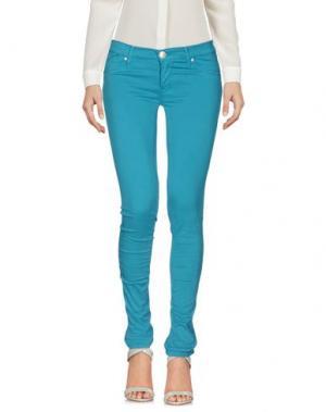 Повседневные брюки 0/ZERO CONSTRUCTION. Цвет: бирюзовый