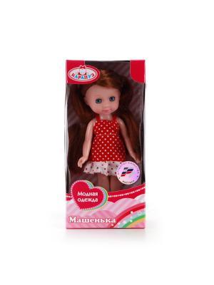 Кукла Карапуз Машенька 15см, пластиковые глаза, без звука. Цвет: красный