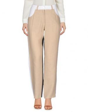 Повседневные брюки LA FABBRICA del LINO. Цвет: бежевый