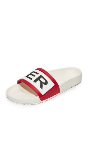 Оригинальные сандалии без задника Hunter Boots. Цвет: белый