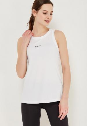 Майка спортивная Nike. Цвет: белый