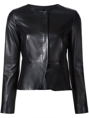 Приталенная куртка без воротника Derek Lam. Цвет: чёрный