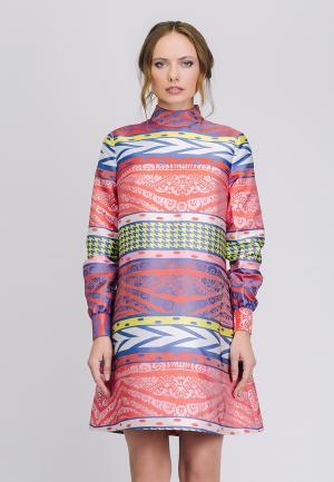 Платье Cavo. Цвет: разноцветный
