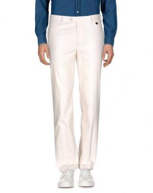 Повседневные брюки ANGELO NARDELLI. Цвет: слоновая кость