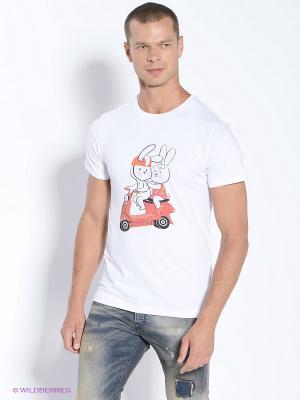 Футболка Bunny Alexander Konasov. Цвет: белый