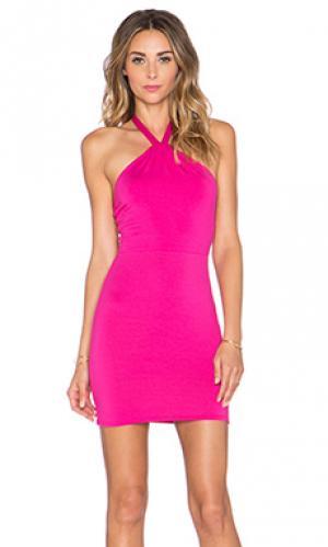 Мини платье halter Rachel Pally. Цвет: розовый