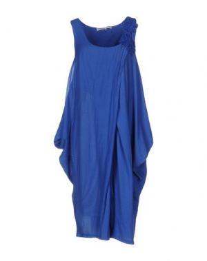 Платье до колена LA FABBRICA DEL LINO. Цвет: синий