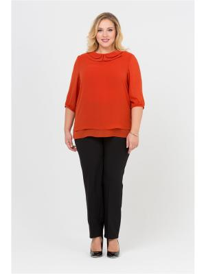 Блуза Интикома. Цвет: рыжий