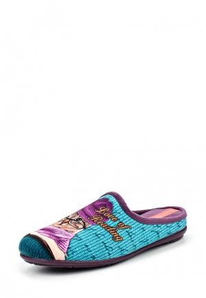 Тапочки Mon Ami. Цвет: бирюзовый