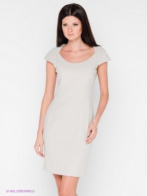 Платье COMPAGNIA ITALIANA. Цвет: светло-бежевый