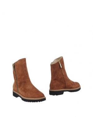 Полусапоги и высокие ботинки PREZIOSO. Цвет: желто-коричневый