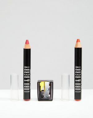 Lord & Berry Набор из двух матовых помад-карандашей эксклюзивно для AS. Цвет: бесцветный