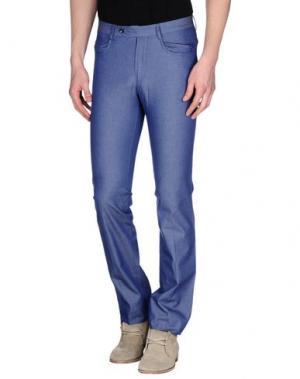 Повседневные брюки MESSORI. Цвет: синий