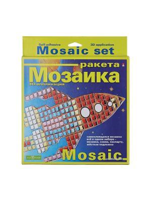 Набор декоративная мозаика  №1 ракета Альт. Цвет: красный