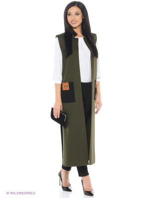 Жилет-пальто Xenia Dukova. Цвет: оливковый, черный