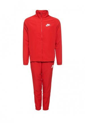 Костюм спортивный Nike. Цвет: красный