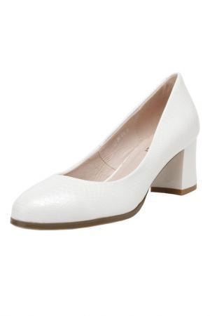 Туфли MAKFLY. Цвет: белый