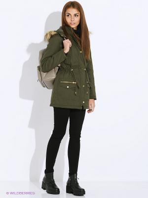 Пальто Tally Weijl. Цвет: оливковый