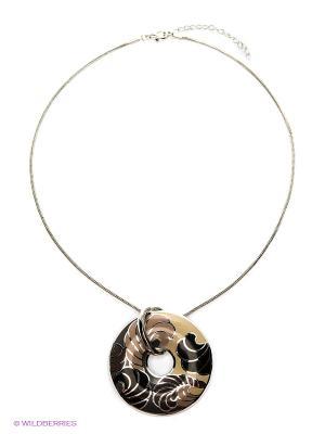 Колье Lovely Jewelry. Цвет: серебристый, бежевый, коричневый