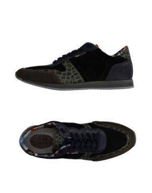 Низкие кеды и кроссовки YAB. Цвет: темно-зеленый