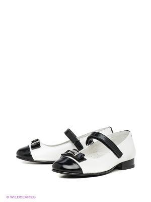 Туфли ELEGAMI. Цвет: черный, белый