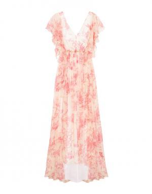 Шелковое платье Philosophy Di Lorenzo Serafini. Цвет: белый, красный
