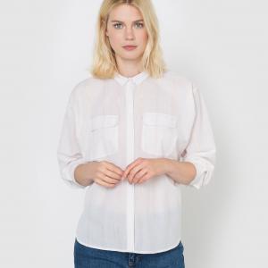 Рубашка с длинными рукавами La Redoute Collections. Цвет: слоновая кость/ золотистый,темно-зеленый/золотистый