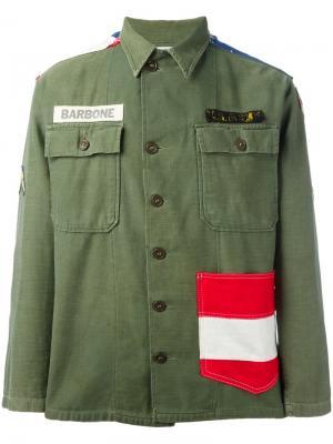 Куртка в стиле милитари Htc Hollywood Trading Company. Цвет: зелёный