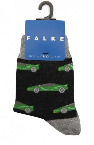 Носки с рисунком Falke. Цвет: темно-серый