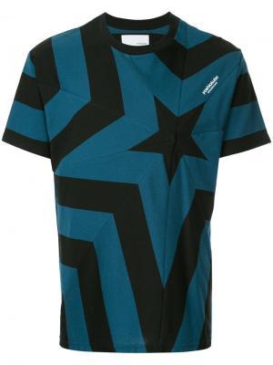 Star print T-shirt Yoshiokubo. Цвет: синий
