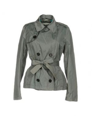 Легкое пальто 313 TRE UNO. Цвет: светло-серый
