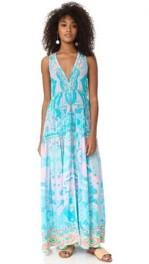 Длинное платье Mexicano ROCOCO SAND. Цвет: пастельный
